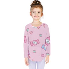 Cute candy Kids  Long Sleeve Tee