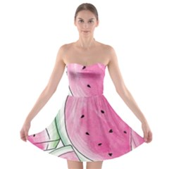 Cute Watermelon Strapless Bra Top Dress