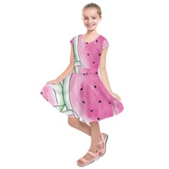 Cute watermelon Kids  Short Sleeve Dress