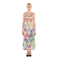 Colorful triangle Sleeveless Maxi Dress