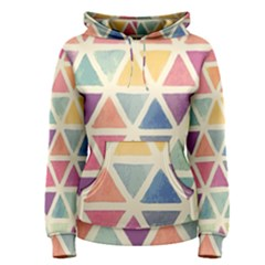 Colorful triangle Women s Pullover Hoodie