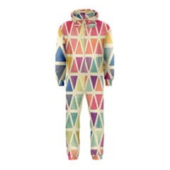 Colorful triangle Hooded Jumpsuit (Kids)