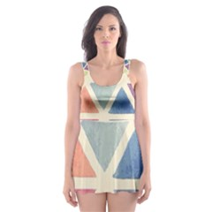 Colorful triangle Skater Dress Swimsuit