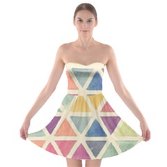 Colorful Triangle Strapless Bra Top Dress