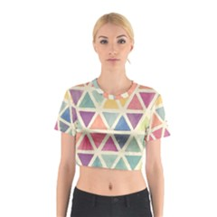 Colorful triangle Cotton Crop Top