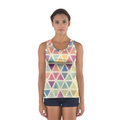Colorful triangle Women s Sport Tank Top