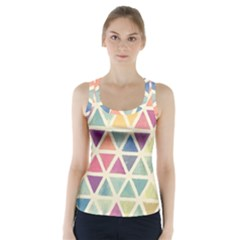 Colorful triangle Racer Back Sports Top