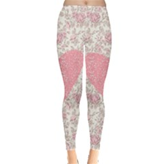 Cute pink heart Leggings