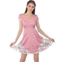 Cute pink heart Cap Sleeve Dresses