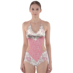 Cute pink heart Cut-Out One Piece Swimsuit