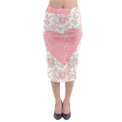 Cute pink heart Midi Pencil Skirt