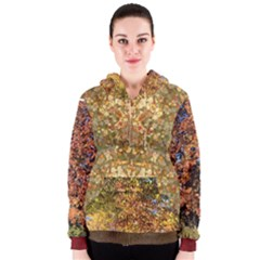Autumn Trees and many-colored leaves Women s Zipper Hoodie