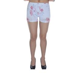 Lovely flowers Skinny Shorts