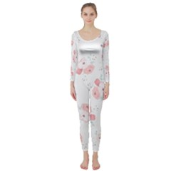 Lovely flowers Long Sleeve Catsuit