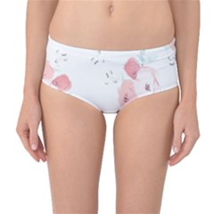 Lovely flowers Mid-Waist Bikini Bottoms
