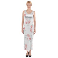 Lovely flowers Fitted Maxi Dress