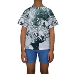 Black and white  Kids  Short Sleeve Swimwear