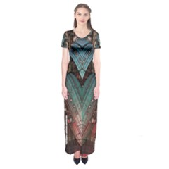 ABC4 Short Sleeve Maxi Dress