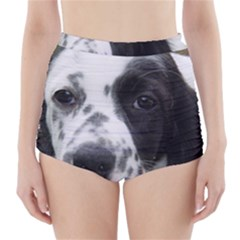 English Setter High-Waisted Bikini Bottoms