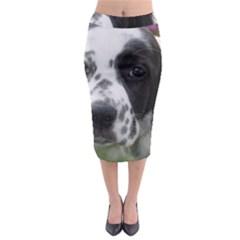 English Setter Midi Pencil Skirt