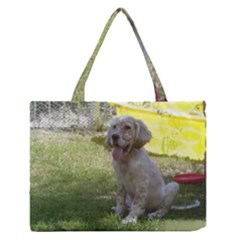 English Setter Orange Belton Puppy Medium Zipper Tote Bag