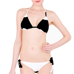 English Setter Silo Black Bikini Set