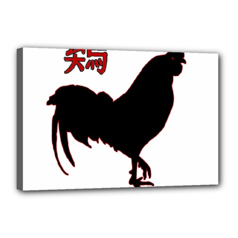 Year of the Rooster - Chinese New Year Canvas 18  x 12