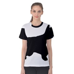English Setter Silo Black Women s Cotton Tee