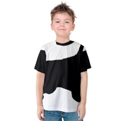 English Setter Silo Black Kids  Cotton Tee