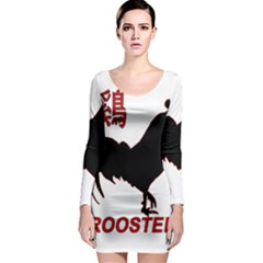 Year of the Rooster - Chinese New Year Long Sleeve Bodycon Dress
