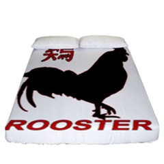 Year of the Rooster - Chinese New Year Fitted Sheet (California King Size)
