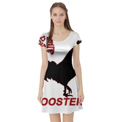 Year of the Rooster - Chinese New Year Short Sleeve Skater Dress