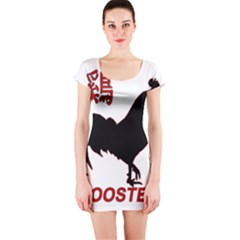 Year of the Rooster - Chinese New Year Short Sleeve Bodycon Dress