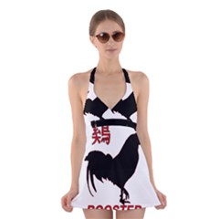 Year of the Rooster - Chinese New Year Halter Swimsuit Dress