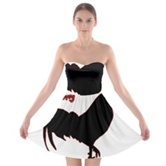 Year of the Rooster - Chinese New Year Strapless Bra Top Dress