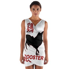 Year of the Rooster - Chinese New Year Wrap Front Bodycon Dress