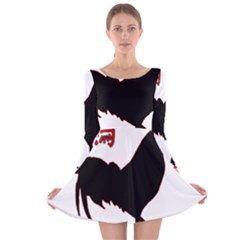 Year of the Rooster - Chinese New Year Long Sleeve Velvet Skater Dress