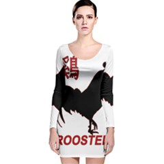 Year of the Rooster - Chinese New Year Long Sleeve Velvet Bodycon Dress