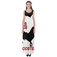 Year of the Rooster - Chinese New Year Empire Waist Maxi Dress