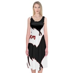 Year of the Rooster - Chinese New Year Midi Sleeveless Dress