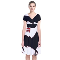 Year of the Rooster - Chinese New Year Short Sleeve Front Wrap Dress