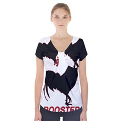 Year of the Rooster - Chinese New Year Short Sleeve Front Detail Top