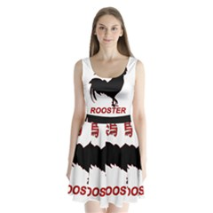 Year of the Rooster - Chinese New Year Split Back Mini Dress