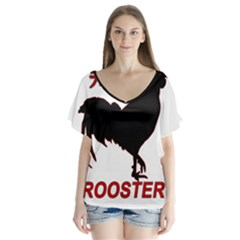 Year of the Rooster - Chinese New Year Flutter Sleeve Top