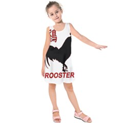 Year of the Rooster - Chinese New Year Kids  Sleeveless Dress