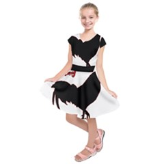 Year of the Rooster - Chinese New Year Kids  Short Sleeve Dress