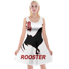 Year of the Rooster - Chinese New Year Reversible Velvet Sleeveless Dress
