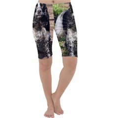 Black Roan English Cocker Spaniel Cropped Leggings