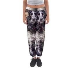 Black Roan English Cocker Spaniel Women s Jogger Sweatpants