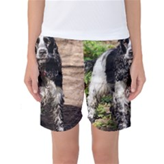 Black Roan English Cocker Spaniel Women s Basketball Shorts